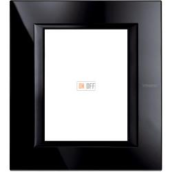 Рамка итальянский стандарт 3+3 мод прямоугольная, цвет Nighter, Axolute, Bticino