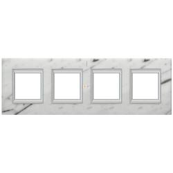 Рамка 4-ая (четверная) прямоугольная, цвет Белый мрамор Каррара, Axolute, Bticino