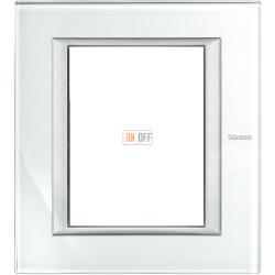 Рамка итальянский стандарт 3+3 мод прямоугольная, цвет Whice, Axolute, Bticino