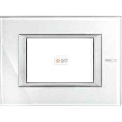 Рамка итальянский стандарт 3 мод прямоугольная, цвет Whice, Axolute, Bticino