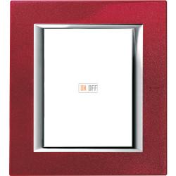 Рамка итальянский стандарт 3+3 мод прямоугольная, цвет Рубин, Axolute, Bticino