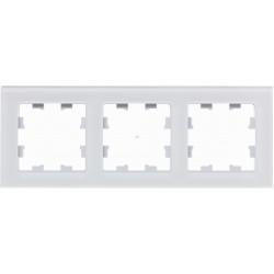 Рамка 3-ая (тройная), Стекло Белое, серия Atlas Design Nature, Schneider Electric