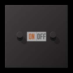 Выключатель 2-кл кноп. НО (тумблер-конус), цвет Dark, LS1912