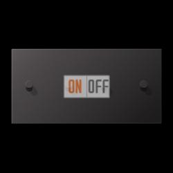 Выключатель 2-кл + Выключатель 2-кл кноп. НО (тумблер-конус) гориз, цвет Dark, LS1912