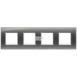 Рамка 4-ая (четверная) прямоугольная, цвет Лондонский туман, LivingLight, Bticino