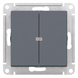 Выключатель 2-клавишный, Грифель, серия Atlas Design, Schneider Electric