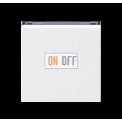 Выключатель 1-клавишный, цвет Белый/Дымчатый черный, Levit, ABB