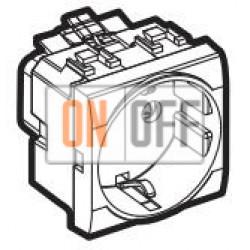 Розетка 1-ая электрическая , с заземлением (безвинтовой зажим), цвет Антрацит, LivingLight, Bticino