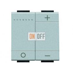 Диммер под люминесцентные лампы 1-10В, (потенциометр), цвет Алюминий, LivingLight, Bticino