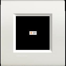 Рамка 1-ая (одинарная) прямоугольная, цвет Белый, LivingLight, Bticino