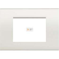 Рамка итальянский стандарт 3 мод прямоугольная, цвет Белый, LivingLight, Bticino