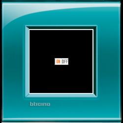 Рамка 1-ая (одинарная) прямоугольная, цвет Зеленый, LivingLight, Bticino