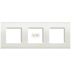 Рамка 3-ая (тройная) прямоугольная, цвет Белый, LivingLight, Bticino