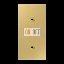 Выключатель 1-кл перекр. + Выключатель 1-кл кноп. (тумблер-конус) верт, цвет Classic, LS1912
