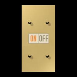 Выключатель 2-кл кноп. НО + Выключатель 2-кл кноп. НО (тумблер-конус) верт, цвет Classic, LS1912