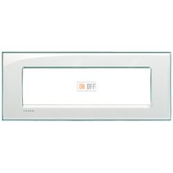 Рамка итальянский стандарт 7 мод прямоугольная, цвет Морская вода, LivingLight, Bticino