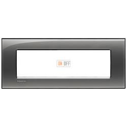 Рамка итальянский стандарт 7 мод прямоугольная, цвет Лондонский туман, LivingLight, Bticino