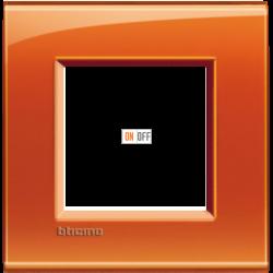 Рамка 1-ая (одинарная) прямоугольная, цвет Оранжевый, LivingLight, Bticino