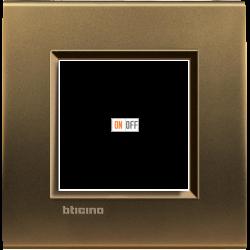 Рамка 1-ая (одинарная) прямоугольная, цвет Бронза, LivingLight, Bticino