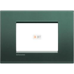 Рамка итальянский стандарт 3 мод прямоугольная, цвет Зеленый шелк, LivingLight, Bticino