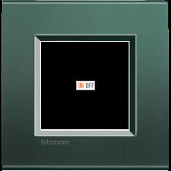 Рамка 1-ая (одинарная) прямоугольная, цвет Зеленый шелк, LivingLight, Bticino