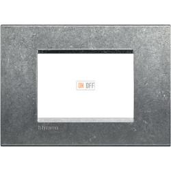 Рамка итальянский стандарт 3 мод прямоугольная, цвет Исконный, LivingLight, Bticino