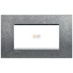 Рамка итальянский стандарт 4 мод прямоугольная, цвет Исконный, LivingLight, Bticino