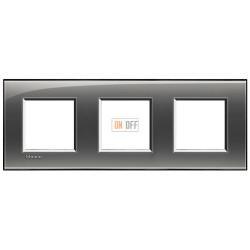 Рамка 3-ая (тройная) прямоугольная, цвет Лондонский туман, LivingLight, Bticino