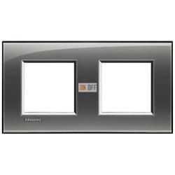 Рамка 2-ая (двойная) прямоугольная, цвет Лондонский туман, LivingLight, Bticino