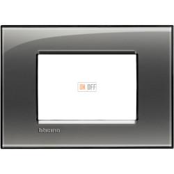 Рамка итальянский стандарт 3 мод прямоугольная, цвет Лондонский туман, LivingLight, Bticino