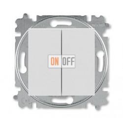 Выключатель 2-клавишный проходной (с двух мест), цвет Серый/Белый, Levit, ABB