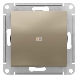 Выключатель 1-клавишный ,проходной (с двух мест), Шампань, серия Atlas Design, Schneider Electric