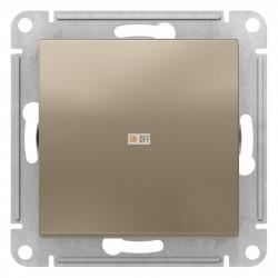 Выключатель 1-клавишный, перекрестный (с трех мест), Шампань, серия Atlas Design, Schneider Electric