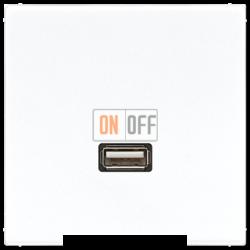 Розетка USB 1-ая (разъем), цвет Белый, LS990, Jung