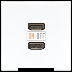 Розетка HDMI 2-ая (разъем), цвет Белый, LS990, Jung