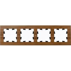 Рамка 4-ая (четверная), Дерево Бамбук, серия Atlas Design Nature, Schneider Electric