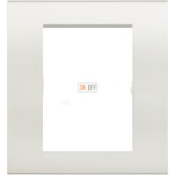 Рамка итальянский стандарт 3+3 мод прямоугольная, цвет Белый, LivingLight, Bticino