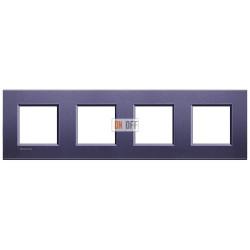 Рамка 4-ая (четверная) прямоугольная, цвет Синий шелк, LivingLight, Bticino