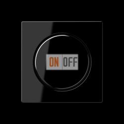 Диммер поворотно-нажимной , 600Вт для л/н и эл.трансф., цвет Черный, A500, Jung