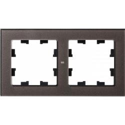 Рамка 2-ая (двойная), Стекло Мокко, серия Atlas Design Nature, Schneider Electric