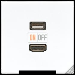 Розетка USB/HDMI (разъем), цвет Бежевый, LS990, Jung
