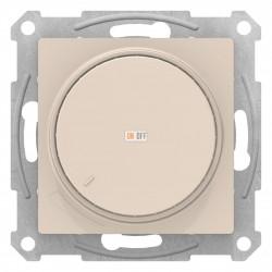 Диммер поворотно-нажимной , 600Вт для ламп накаливания, Бежевый, серия Atlas Design, Schneider Electric