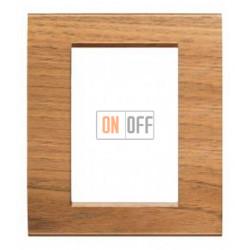 Рамка итальянский стандарт 3+3 мод прямоугольная, цвет Дерево Орех (европейский), LivingLight, Bticino