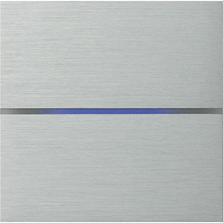 Basalte 201-01 Sentido лицевая панель 2 - клавишная - brushed aluminium