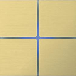Basalte 202-08 Sentido лицевая панель 4 - клавишная - brushed brass