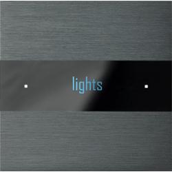 Basalte 301-02 Deseo лицевая панель - brushed dark grey