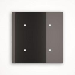 4 - клавишный выключатель Tense KNX INTGB4 Glass Black