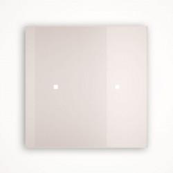 2 - клавишный выключатель Tense KNX INTGW2 Glass White