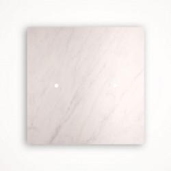 2 - клавишный выключатель Tense KNX INTSCBM2 Stone Carrara Bianco Marble