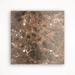 4 - клавишный выключатель Tense KNX INTSEMM4 Stone Emperador Marron Marble
